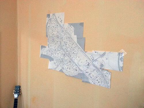 карта митино на стене