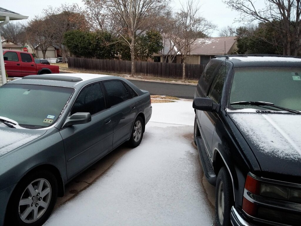 Апокалипсис в Остине, шт. Техас - сегодня выпал снег! В связи с этим закрылись школы и офисы