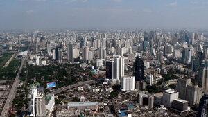 Бангкок с высоты птичьего полёта.