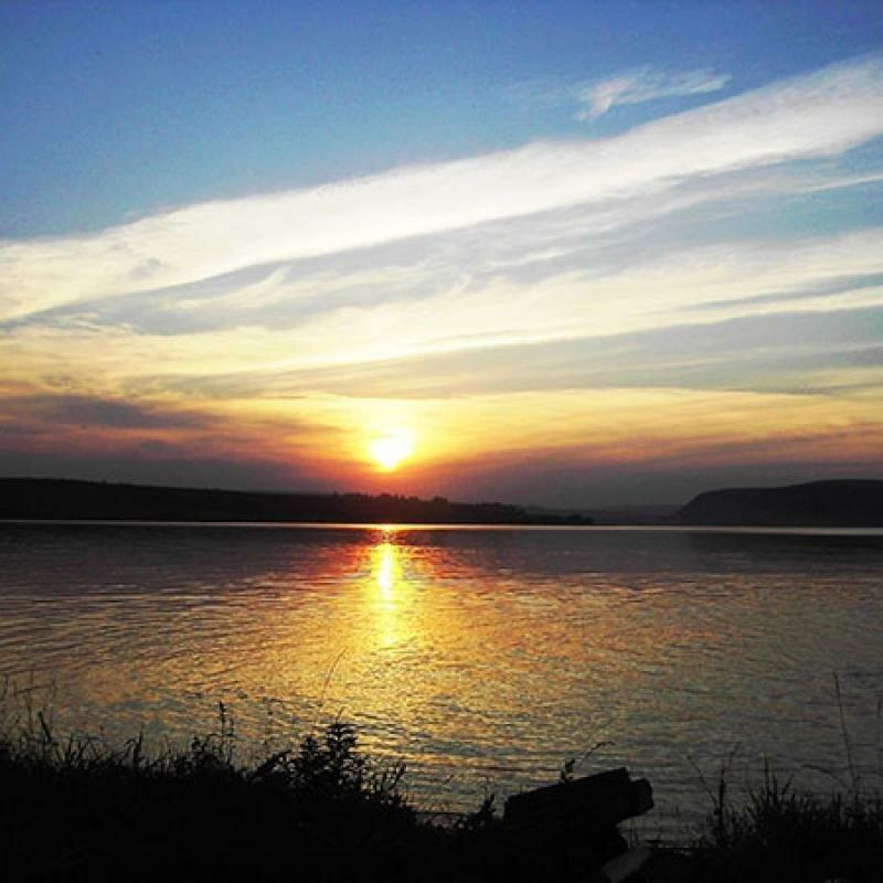 Рассвет на озере Увильды (17.06.2013)