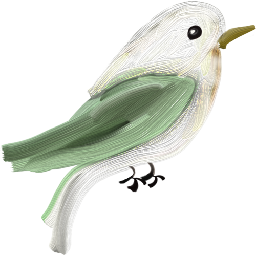 птица акварель png