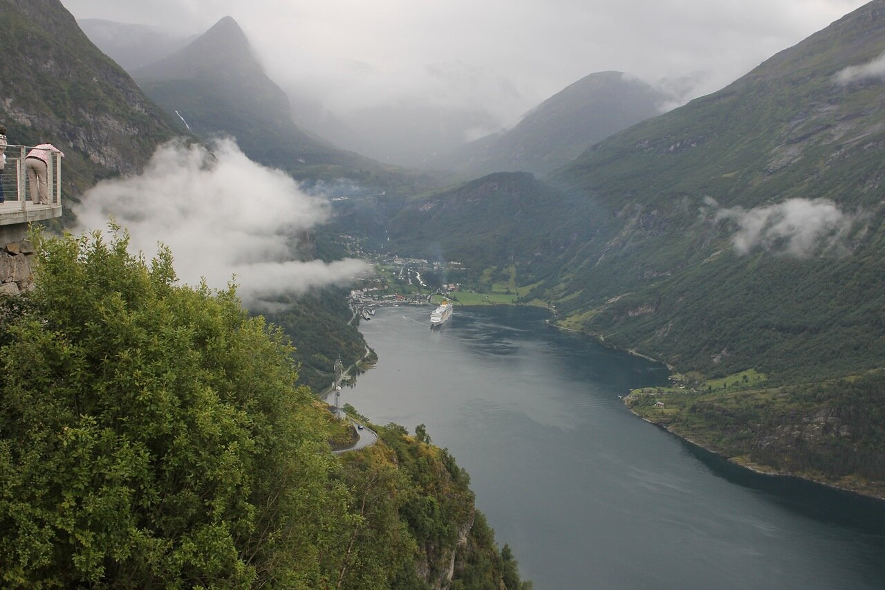 Geirangerfjord view from the Ørnesvingen observation desk (Ørnesvingen)