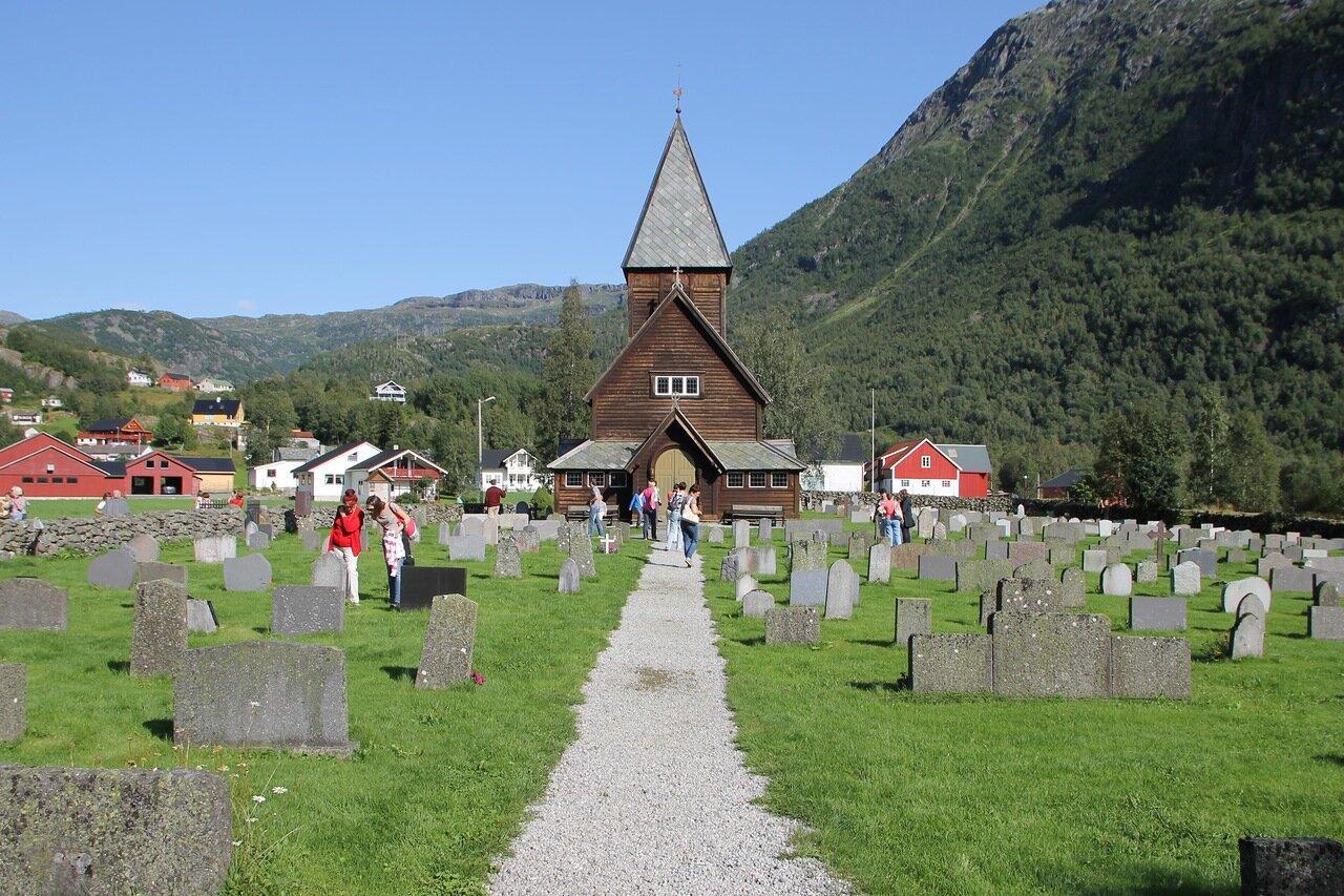 West Norway,Røldal.stavkyrkje, stave church.  Западная Норвегия, Рёлдал, ставкирка.