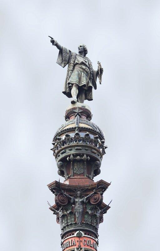 Barcelona. Column Of Columbus. Columbus Monument, Barcelona. Monumento a Colón