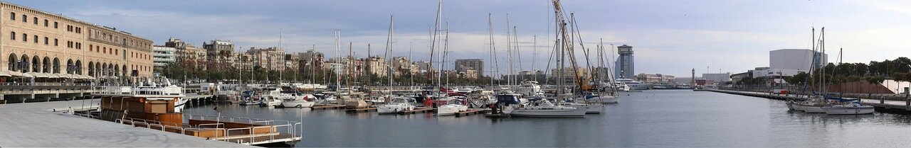 Barcelona. Panorama Of The Old Port (Port Vell)