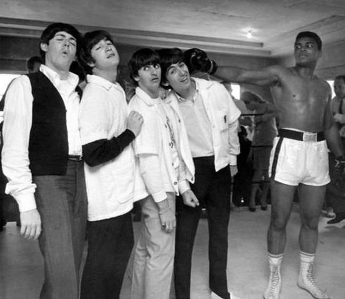 The Beatles и Мохаммед Али, 1964 год.