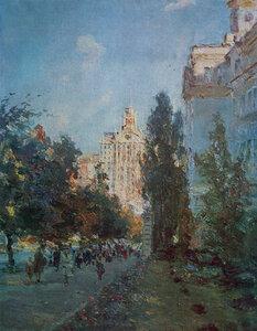 Сергій Шишко.Вулиця Леніна увечері.1957