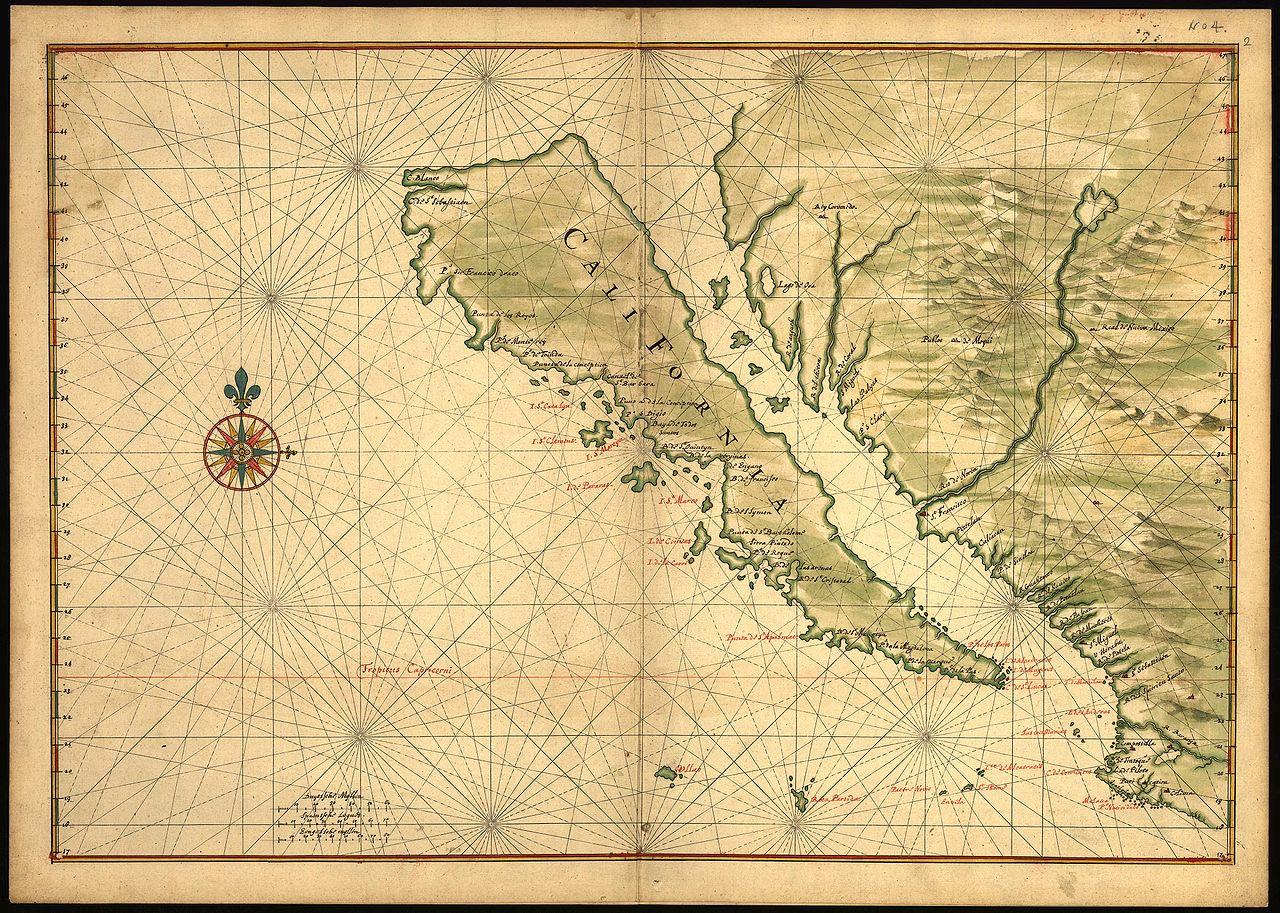 Карта Калифорнии XVII века. Территория изображена как остров.jpg