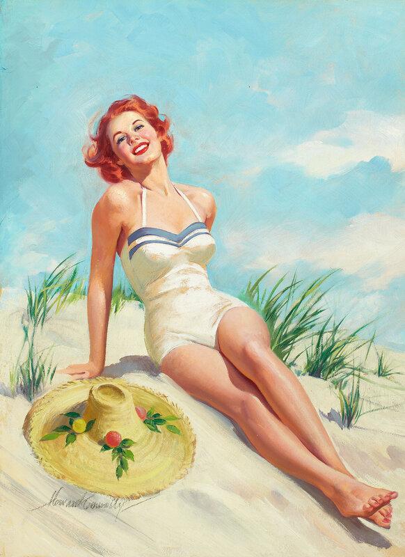 Открытка отдыхающая женщина