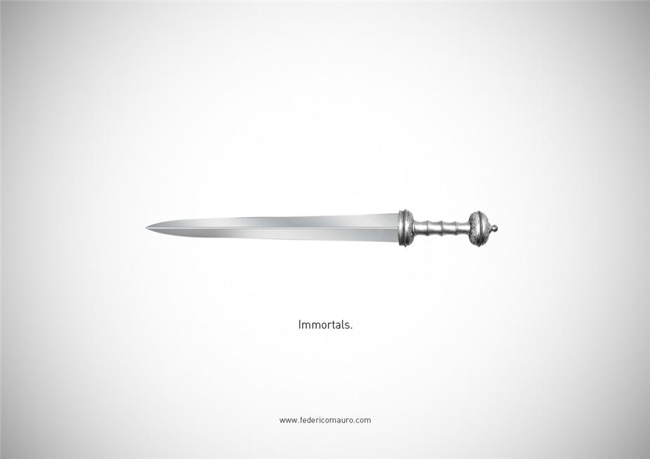 Знаменитые клинки, ножи и тесаки культовых персонажей / Famous Blades by Federico Mauro - Immortals