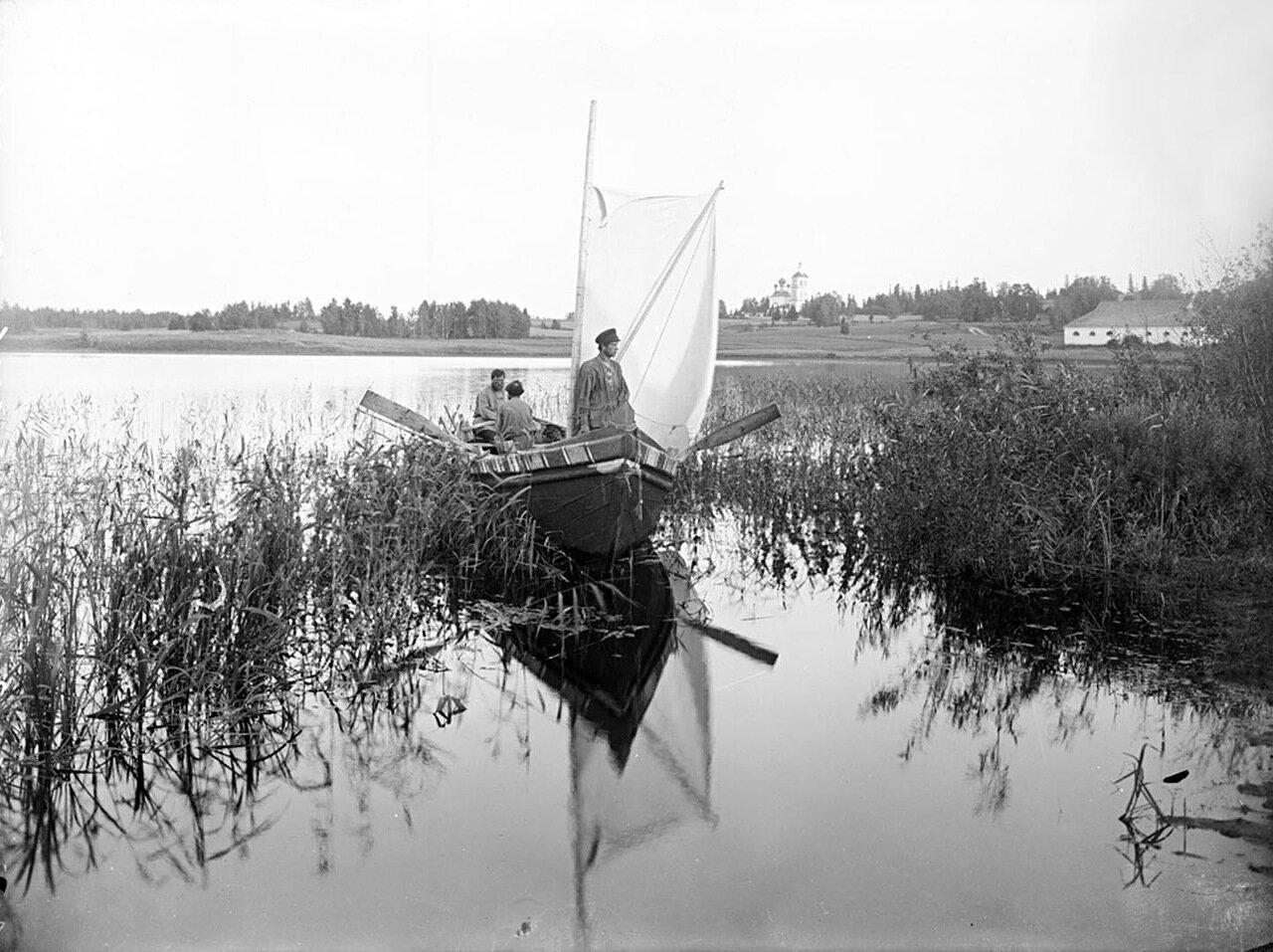Вид озера Селигер и Мирковского погоста. 1903 г. Тверская губерния