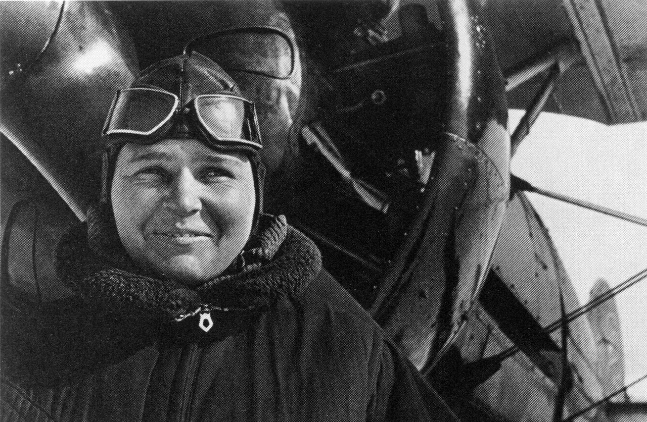 Лётчица П.Осипенко. 1936 год