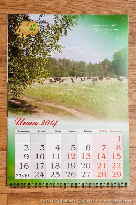 1301_6483. Календарь в честь 60-летия Чунского района. Фото Кекелева Владимира