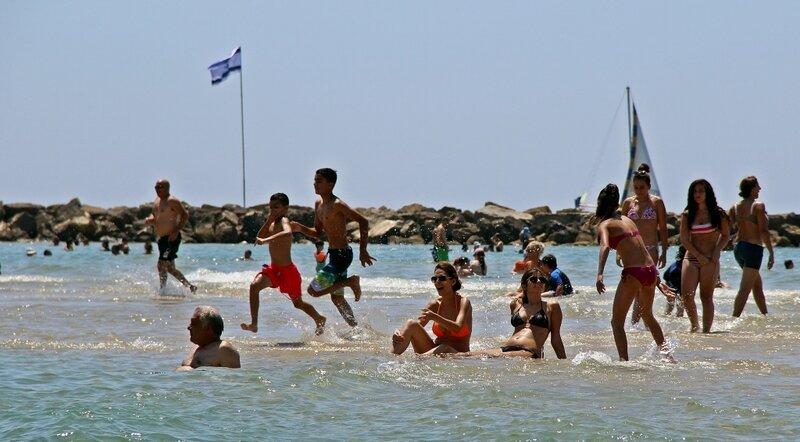 Секс в море пляж израил