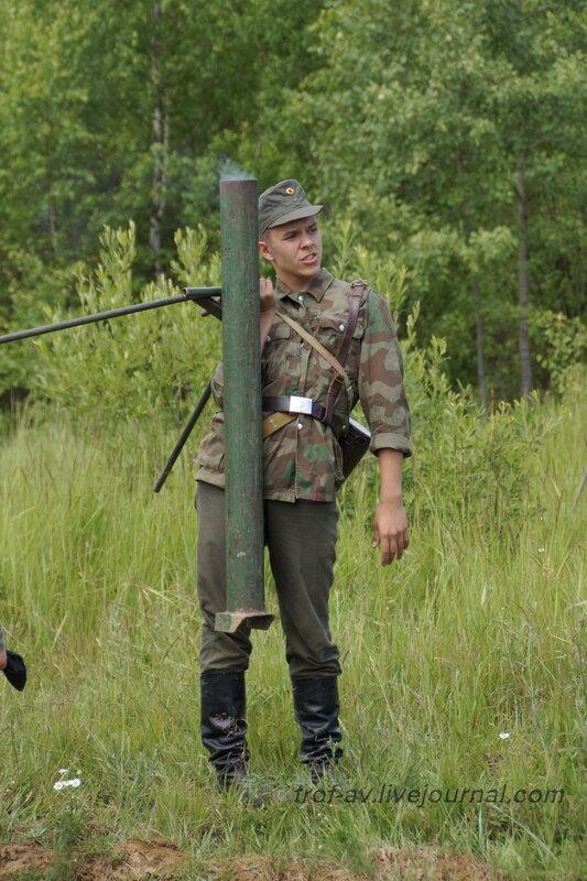 Немец из гитлерюгенд :). 22 июня, реконструкция начала ВОВ в Кубинке (2 часть)