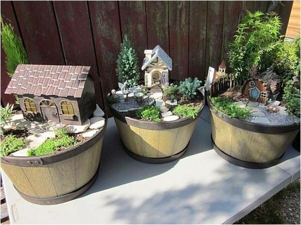 Миниатюрные сады в садовых горшках