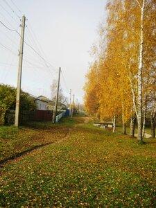 Осень на Озёрной улице.