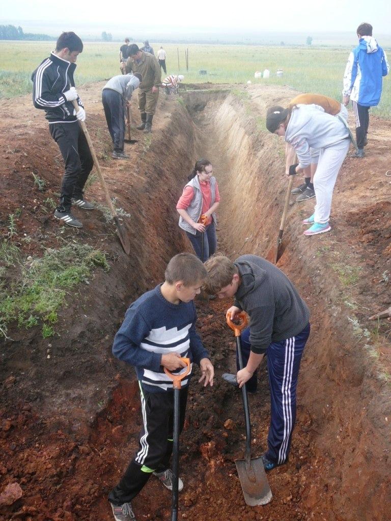2014 год. Активное участие в работах принимают школьники и студенты (26.06.2014)