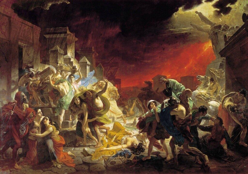 Последний день Помпеи. 1833. Холст, масло. Холст, масло. 456х651 см.jpg