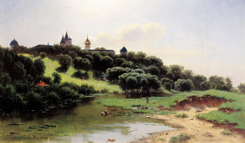 Саввино-Сторожевский монастырь под Звенигородом. 1860-е, холст, масло, 61х104 см.jpg