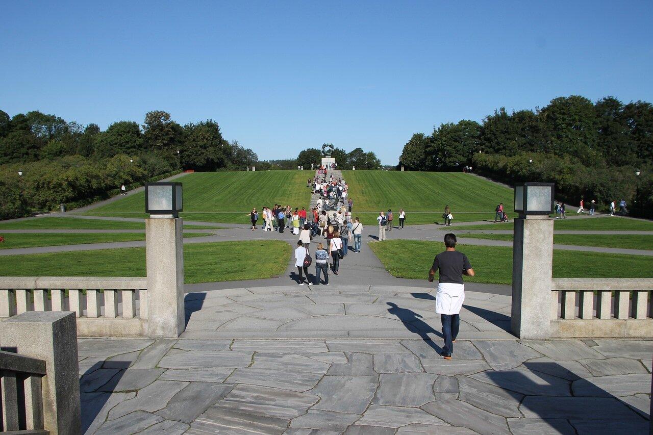 Oslo, Vigeland Park. Осло, Парк Вигеланда,
