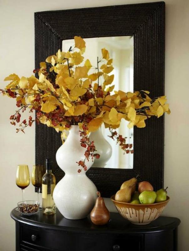 Декорирование осенними листьями