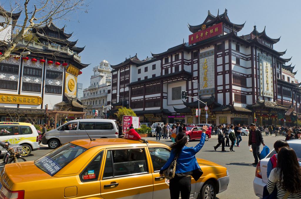 """1. Начало квартала """"Старый город"""" в Шанхае. Отзывы турситов о самостоятельной экскурсии во время поездки в Китай. Снято на зеркалку Nikon 5100 с объективом Nikon 17-55mm f/2.8."""