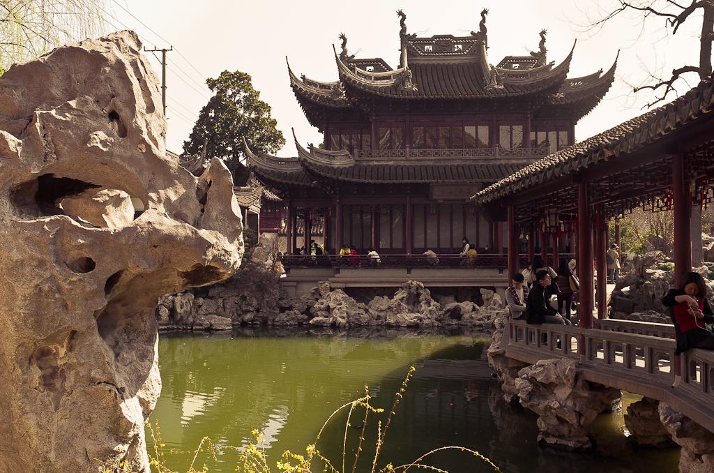 """14. Весенний парк """"Сад Юй Юань"""" в Шанхае. Отзывы о путешествии по Китаю."""