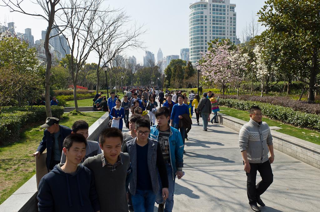 17. А на улицах Шанхая - попросторнее. Весенняя поездка в Китай.