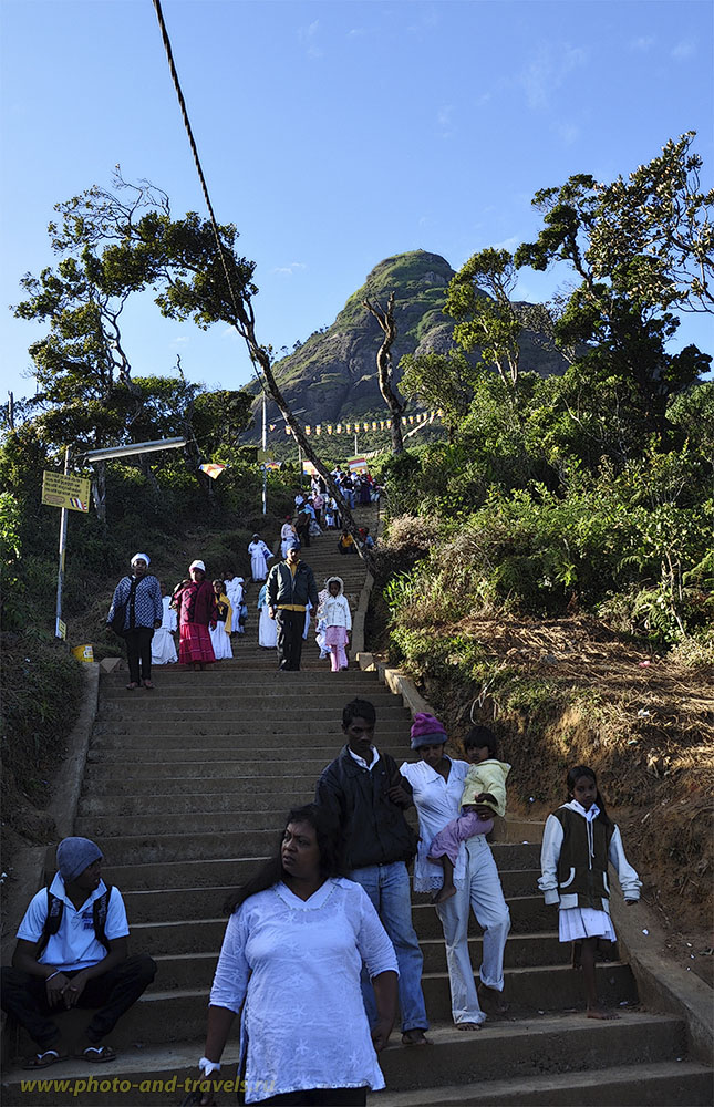 Фото. Тропа к вершине горы Пик Адама на Шри-Ланке. Отзывы туристов.