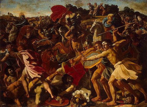 Битва израильтян с амалекитянами.Ок.1624-1625гг..jpg