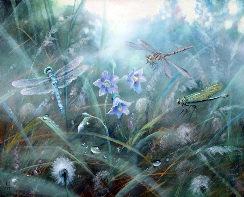 На поле, где дыханием своим, мы разбудили синий колокольчик   Художник Желонкин А.