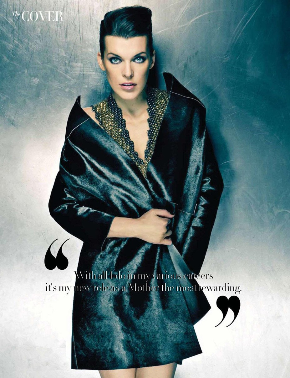 Milla Jovovich / Милла Йовович в журнале Harper's Bazaar Hong Kong, август 2013 / фотограф Gilles-Marie Zimmerman