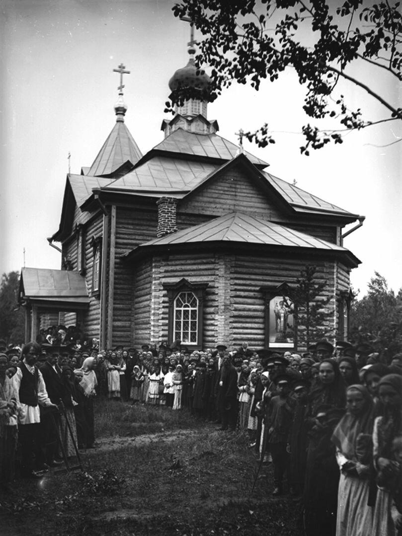 Никольская церковь. (Наружный вид). 1904 г. Нижегородская губерния, с. Подлесово