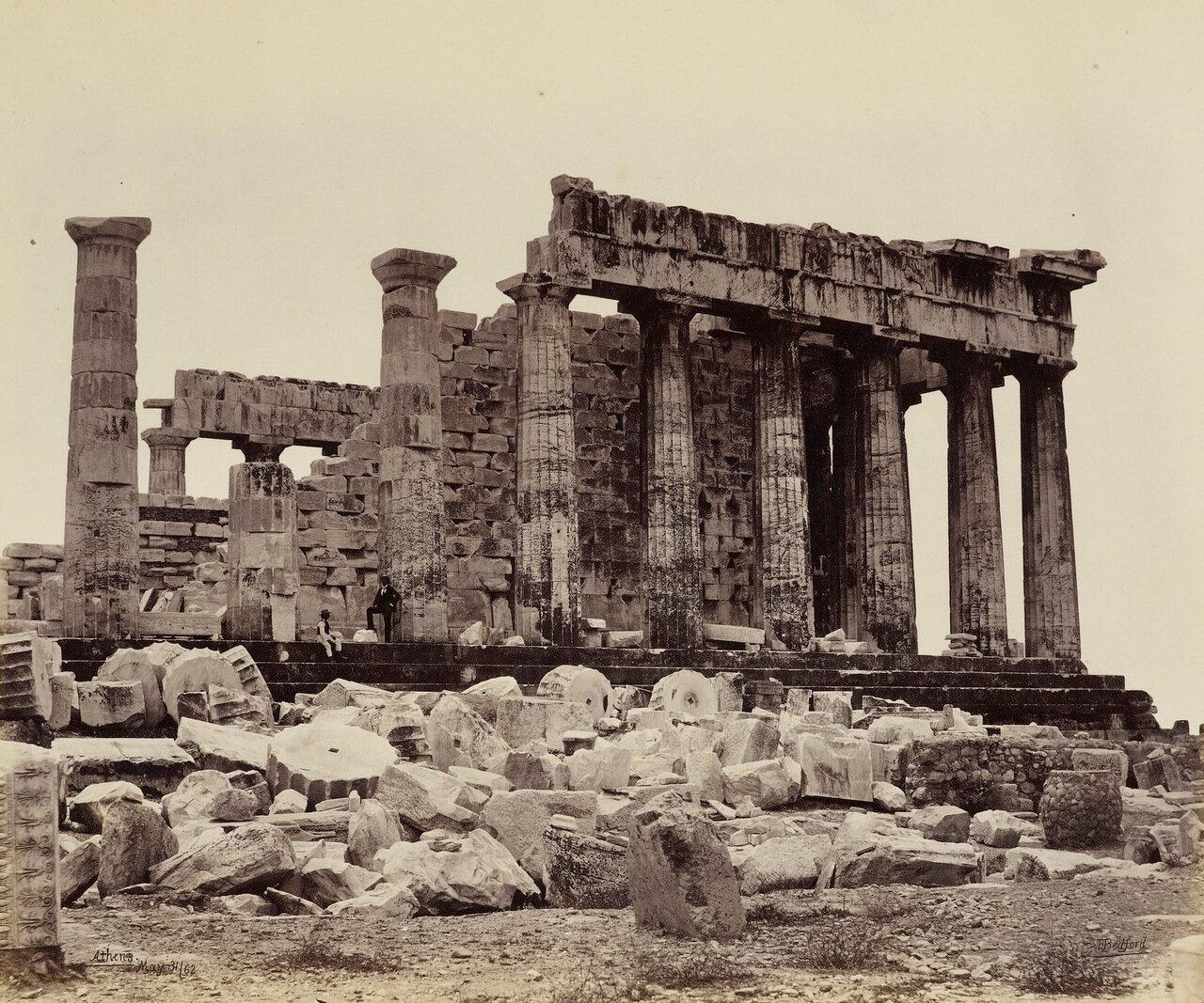 31 мая 1862. Северная сторона Парфенона