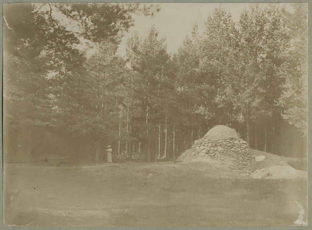 1900. Непонятная каменная структура в лесу