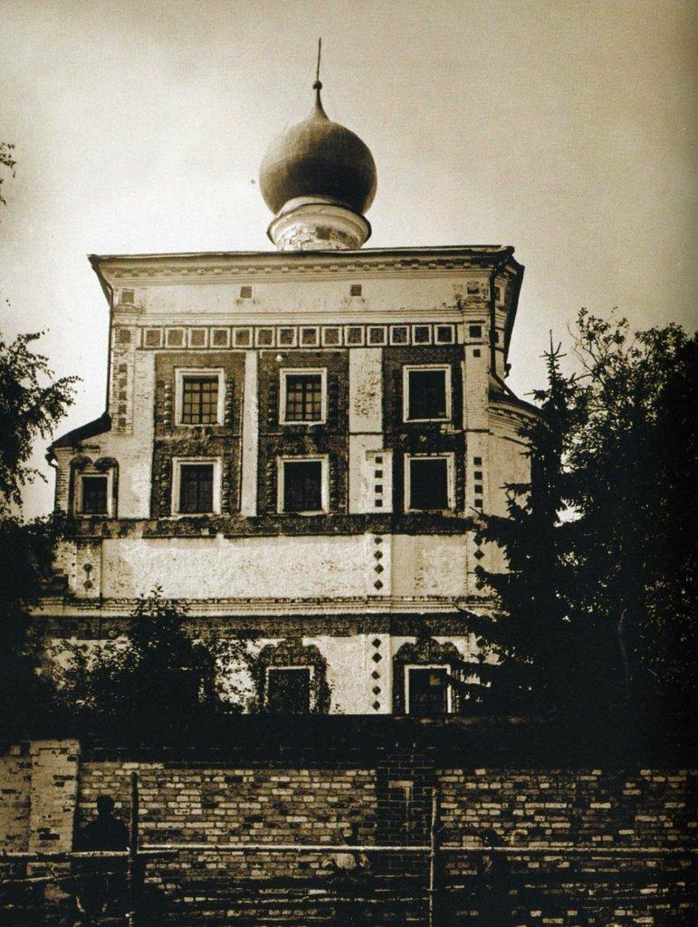 Вяжищский монастырь. Церковь Иоанна Богослова в начале 1900 годов
