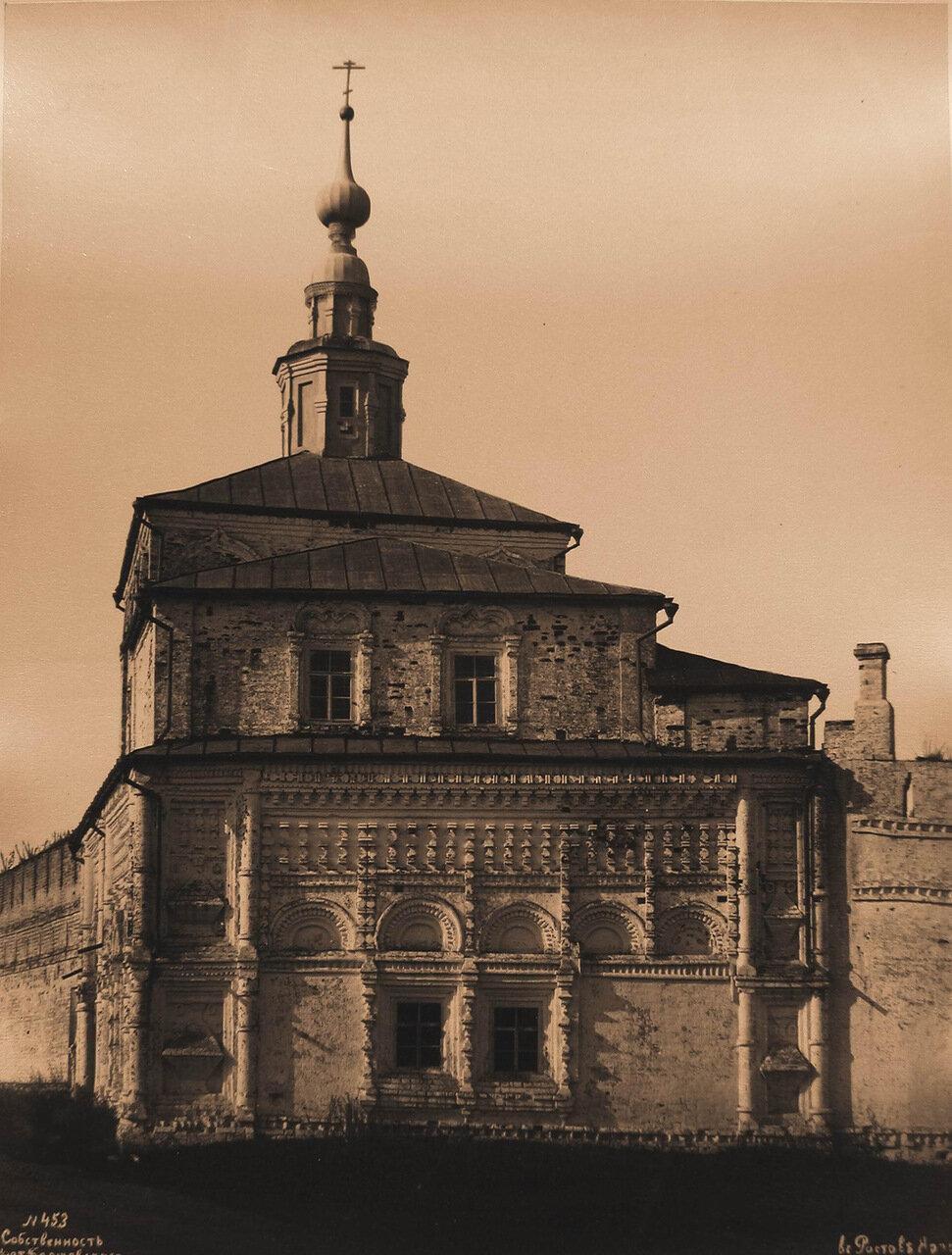 Вид восточного фасада Никольской церкви бывшего Успенского Горицкого монастыря (основан в XII в.,упразднён в 1788 г.)