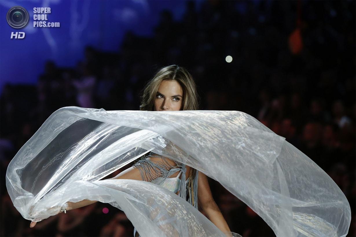 Ambrosio presents a creation during the annual Victoria's Secret Fashion Show in New York
