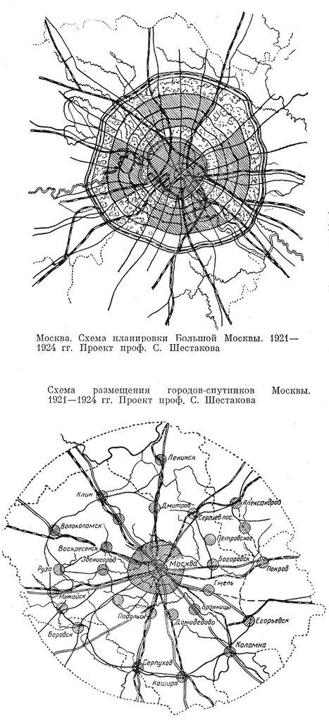 планировки Большой Москвы,