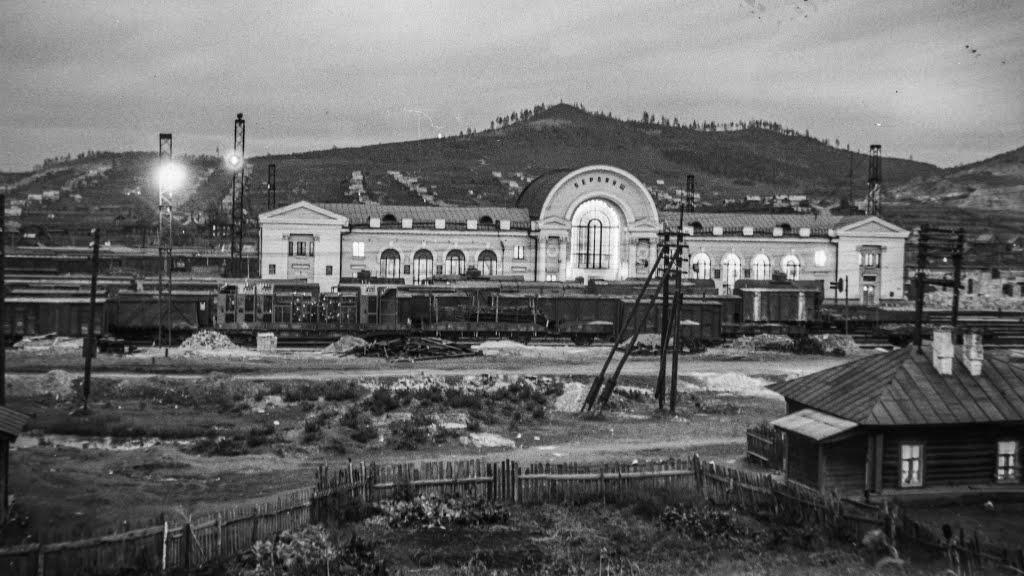 Так выглядело здание вокзала в Бердяуше в 1955 году (03.07.2014)