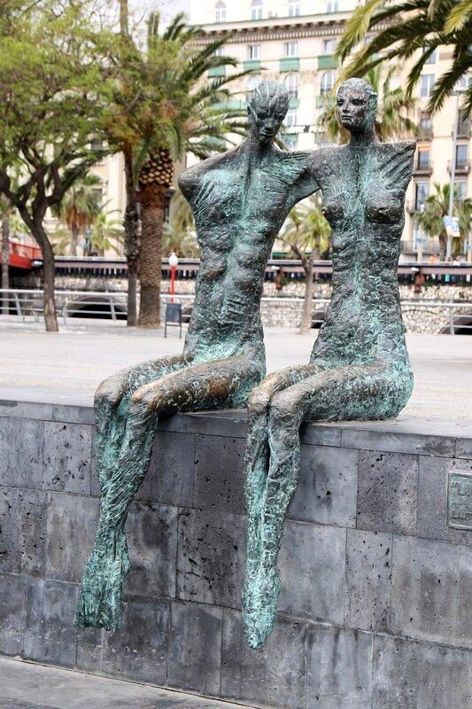 The Couple (La Parella) sculpture, Barcelona