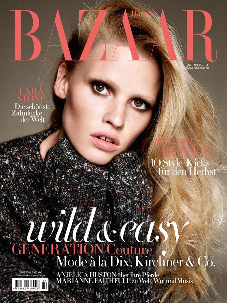 Лара Стоун (Lara Stone) в журнале Harper's Bazaar Germany (2 фото)