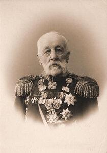 Ганецкий (Гонецкий) Николай Степанович (1815-1904) - русский генерал от инфантерии, участник Крымской войны, член Государственного Совета Российской империи. Портрет.