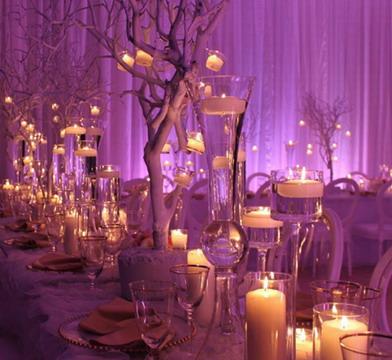 Декор свечами свадьбы
