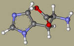 DL-HISTIDINE - 4998-57-6, l-(14c)histidine, 2-amino-3-(1H-imidazol-4-yl)propanoic acid, AG-F-67366, 2-amino-3-(1H-imidazol-5-yl)propanoic acid, histidina-CID_773+.png