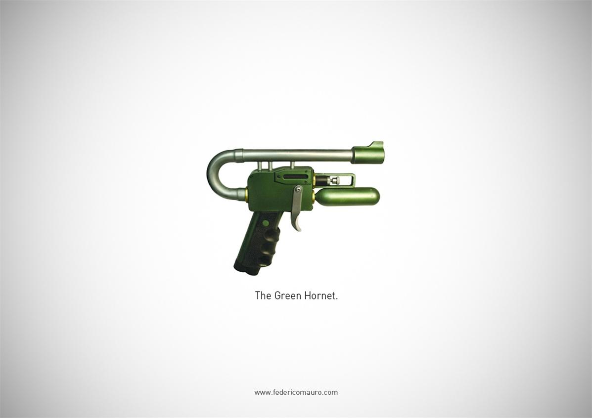 Знаменитые пушки - оружие культовых персонажей / Famous Guns by Federico Mauro - The Green Hornet