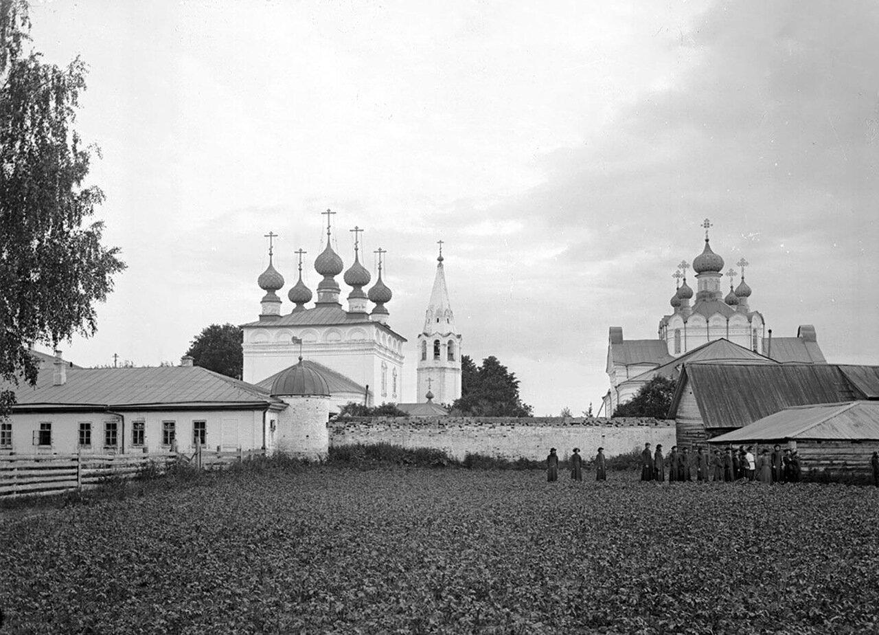 Общий вид Федоровского мужского монастыря. 1894 г. г. Городец, Нижегородская губерния.