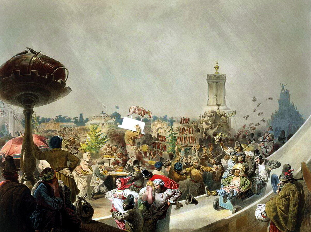 Михай Зичи. Народный праздник на Ходынском поле в Москве по случаю священного коронования императора Александра III