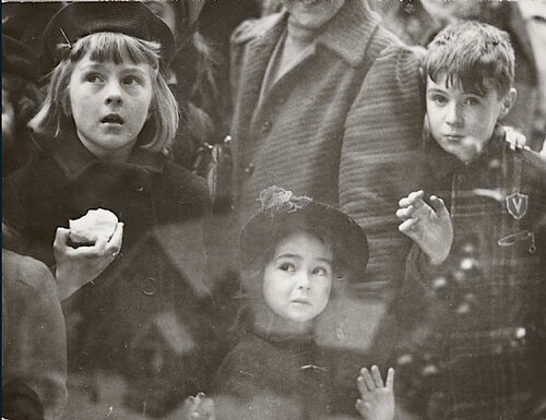 Children Looking at Christmas Toys, New York, 1944